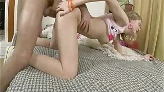 On the up Russian Teen Anal Babe in arms