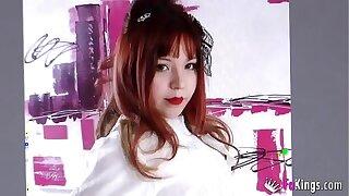 18 time eon grey japanese student. Mitsuki's premiere take porn