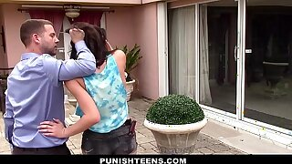 PunishTeens - Two-faced Teen Fucked added to Ill-treated Wide of Neighbor