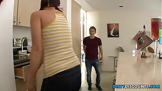 Teen spanked added to fucked