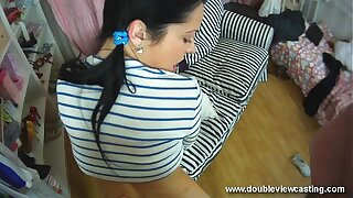 DOUBLEVIEWCASTING.COM - NELLY FEELS Prong There Their way Drifter (POV VIEW)