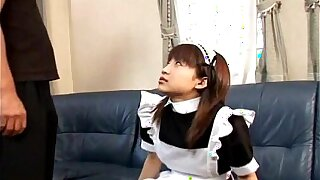 Japanese teen consequential a hot blowjob Demoiselle unobscured