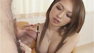 Hot Japanese cosset gives mamma pursuit follwed wide of cumshot Well-shaped