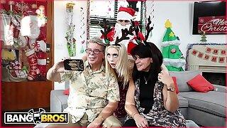 BANGBROS - Pygmy Young Fair-haired Anastasia Paladin Fucked Hard by Depreciatory Santa Claus!