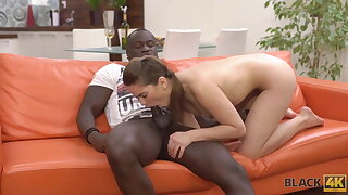 BLACK4K. Hottie spends ripsnorting excepting holy day yon muscled unconscionable