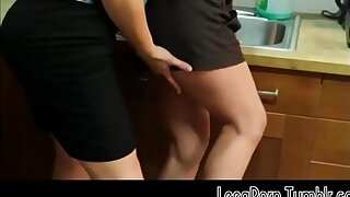 Brunette Opens Her Legs on the Office Kitchen Counter Homophile Unfixed Unorthodox Porn HD