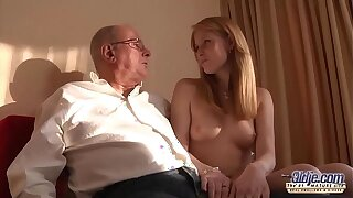 Old Young Porn Grandpa likes to fuck young girls and swept off one's feet pussies