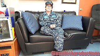Navy girl takes it in the ass