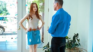 DADDY4K. Discerning man has unforgettable coition with son's hot girl