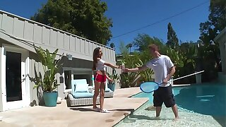 DON'T FUCK MY Little one - Latin Teen Nina North Fucks Pool Man Bill Bailey