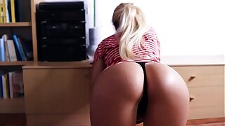 Stepsister Missy helps me with my shorts (unexpected)