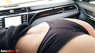 Despondent Woman Savage Sucking Dick in Car after Show - Cum in Mouth