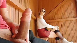 I pull out my cock at the bus stop, incredible reaction!!
