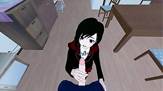 POV going to bed Roseate Rose before giving her a doggystyle creampie. RWBY Hentai.