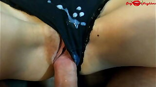 Teen step sister wakes up with reference to a hard cock